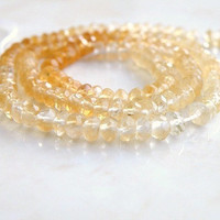 Citrine Rondelle Shaded Gemstone Golden Yellow Solar Power Faceted 4mm 1/2 Strand Wholesale
