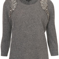 Mirror Embellished Jumper