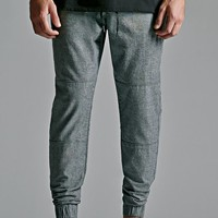 Bullhead Denim Co. Oxford Knee Panel Skinny Jogger Pants - Mens Pants - Oxford Grey