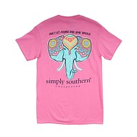 "Preppy Elephant ""Don't Let Anyone Dull Your Sparkle"" Tee in Flamingo by Simply Southern"
