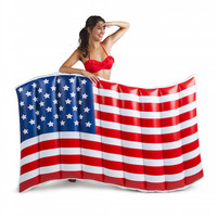 Bigmouth Giant Waving American Flag Pool Float