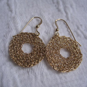 Earrings GF14K Crochet Donut D22mm