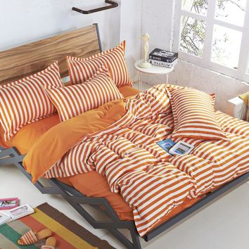 2016 3/4pcs  Bedding set Family Cotton Bedding Set Bed Sheets Pillow Quilt Duvet Cover King Size BedClothes  No Comforter