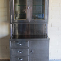 Vintage Stainless Steel Medical Cabinet