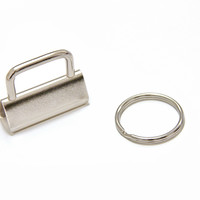 "Key Fob Hardware - 1.25"" (32mm), with 25mm Split Ring"