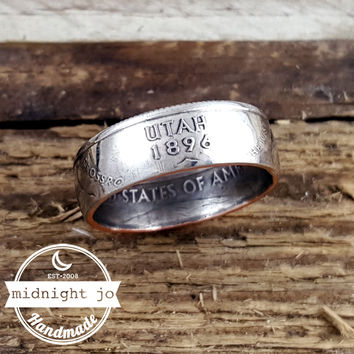 Utah State Quarter Coin Ring