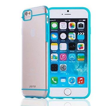 "iPhone 6S Plus / iPhone 6 Plus 5.5 Case - JOTO Slim Fit Hybrid Clear Cover Case (Flexible TPU + Hard PC) for Apple iPhone 6S Plus 5.5"" / iPhone 6 Plus 5.5"" (Purple, Frosty, Clear)"