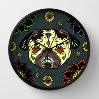 Calavera Paxicana Wall Clock by Huebucket