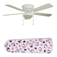 "Classic Hello Kitty 52"" Ceiling Fan with Lamp"