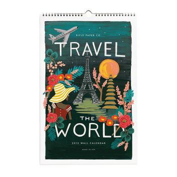 2015 Travel the World Wall Calendar by RIFLE PAPER Co. | Made in USA
