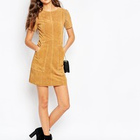 ASOS TALL Suede Dress in A Line at asos.com