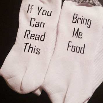 Bring me food socks - funny men's socks - stocking stuffer for him - gift for him - funny gift for him - guys gift