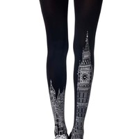 London Urban Tattoo Tights Black - Zohara
