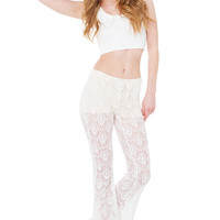 Live In Lace White Pants