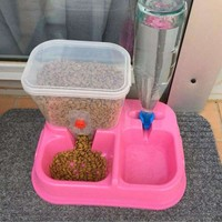 Adjustable Automatic Pet Consuming Fountains Water Feeder Dog Cat Dog Bowl Feeder Assured Health