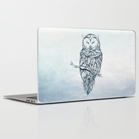 Snow Owl Laptop & iPad Skin by LouJah