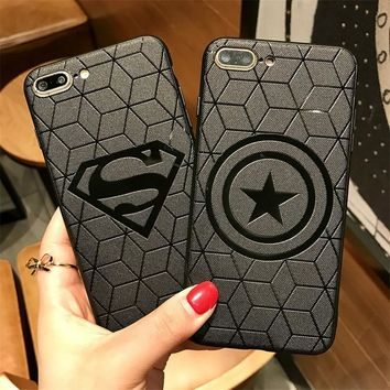 Marvel Avengers Silicone Cover Case for iPhone 6s 7 8 Plus Xs MAX 10 ipone ifone Coque Soft Rubber Batman Ironman funda capa