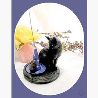 """Magickal Cat & Friend"" Incense Holder"
