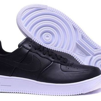 Nike Air Force 1 Ultraforce Leather Black & White Men's Casual Shoes Sneakers
