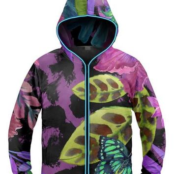 Jungle butterfly light Up Hoodie