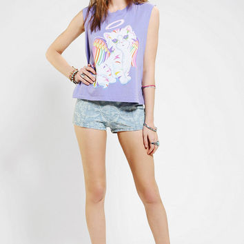 Lisa Frank X UO Angel Kitty Muscle Tee