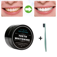 Teeth Whitening Organic Activated Charcoal Bamboo Toothpaste Tool with Tooth Brush