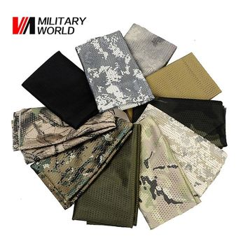 Military Tactical Windproof Camouflage Scarf  Mesh Anti-dust Army Winter Warm Scarves Men For Hunting Shooting Airsoft 10 Color