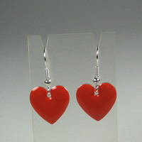 Hearts of Red Earrings