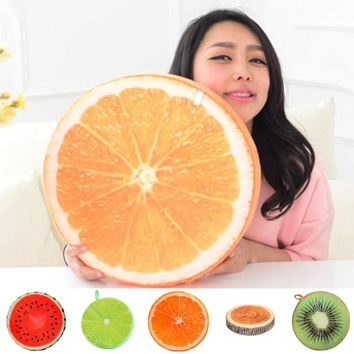 New 3D Summer Fruit PP Cotton Office Chair Back Cushion Sofa Throw Pillow Good Gifts For Friend Lover
