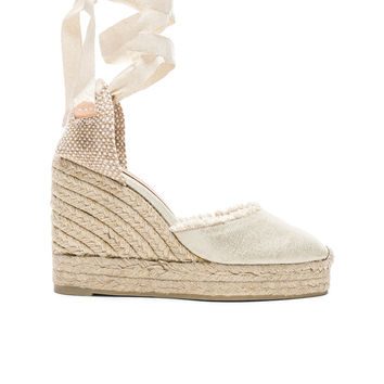 Castaner Canvas Canela Espadrilles in White | FWRD