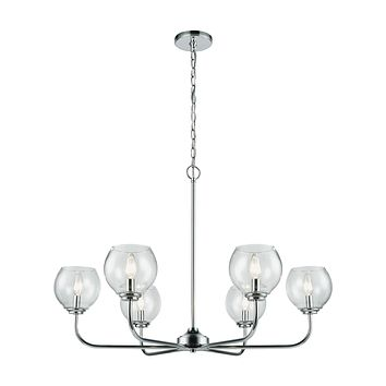 Emory 6 Chandelier Polished Chrome