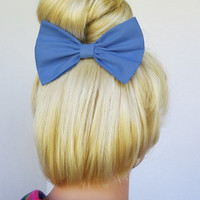 Hair Bow Clip - Periwinkle