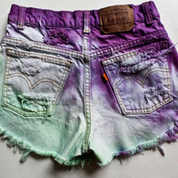 Mint & Purple Shorts by BeautifulCocaine on Etsy