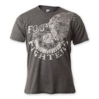 Foo Fighters Winged Wheel Charcoal T-Shirt,
