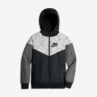The Nike Sportswear Windrunner Big Kids' (Boys') Jacket (XS-XL).