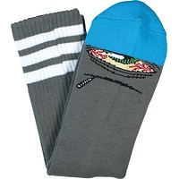 Toy Machine Stoner Sect Crew Socks Grey/Blue 1 Pair
