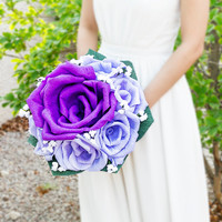 Handmade giant crepe  flower bouquet, paper flower bouquet, wedding bouquet, bridesmaid bouquet, decoration, Summer, Spring, bridal bouquet