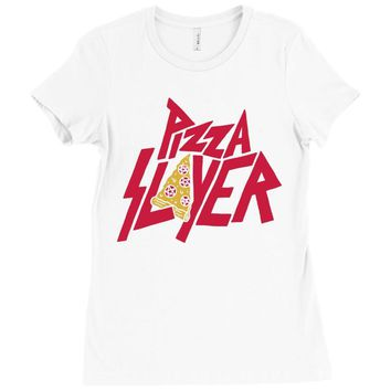 pizza slayer Ladies Fitted T-Shirt