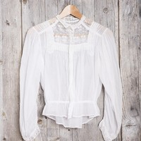 Vintage White Victorian Blouse - Urban Outfitters