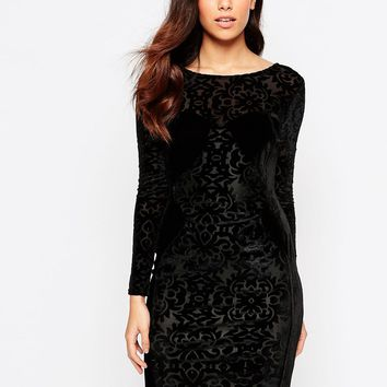 Lashes Of London Velvet Burnout Dress