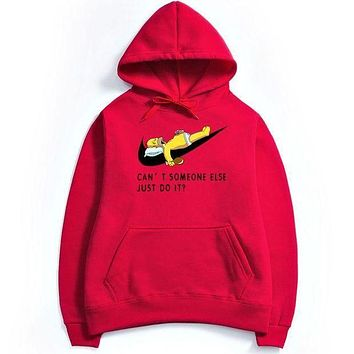 DCCK NIKE Just Do It ,Men,s Hoodie Red