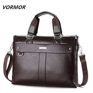 VORMOR 2017 Men Casual Briefcase Business Shoulder Bag Leather Messenger Bags Computer Laptop Handbag Bag Men's Travel Bags