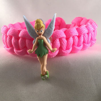 Prancing Tinkerbell - Children Paracord Heaven Survival Bracelet with Adjustable Knot Closure