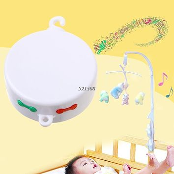 Rotary Baby Mobile Crib Bed Toy Songs Music Box Movement Bell Nursery