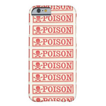 Vintage Skull Crossbones Poison Label Apothecary Barely There iPhone 6 Case