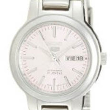 Seiko SYME41 Ladies Watch Stainless Steel Seiko 5 Automatic Dress Pink Dial