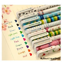 Cute stationery set of 10 color gel pens for DIY scrapbook, painting, drawing, writing, sign
