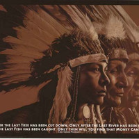 Native American Indian Prophecy Poster 24x36