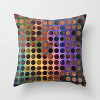 MELANGE of VIOLET and RUST Throw Pillow by Pia Schneider #art #home #decor #pillow #cushion #homeaccessoires #pattern #design #colourful