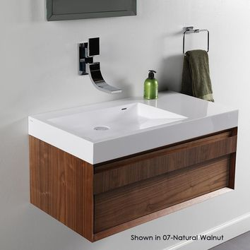 Lacava 5101L001G Vanity top lavatory with shelf on the right Gloss White